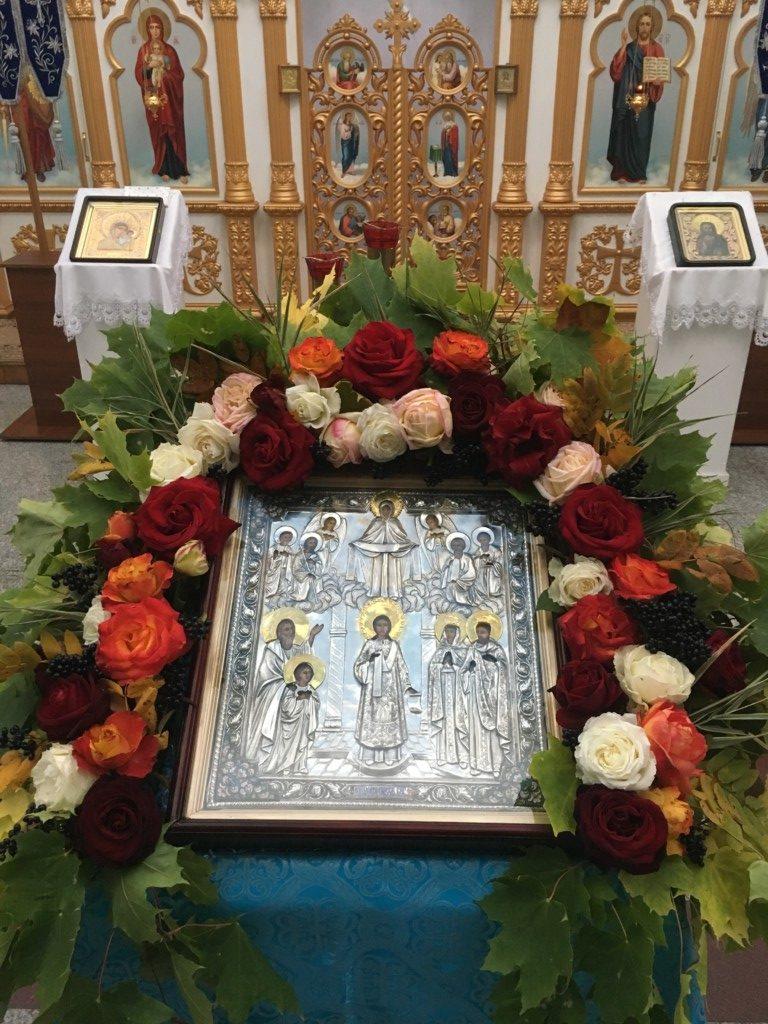 Украшение иконы «Покров Пресвятой Богородицы» 2017   Храм в честь ... cbd555d262b